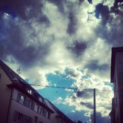 Gewitterwolken.